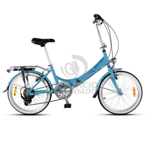 bicicleta plegable r 20 aurora folding classic retro 6v