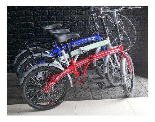 bicicleta plegable rodado 20 con 7 cambios shimano colores
