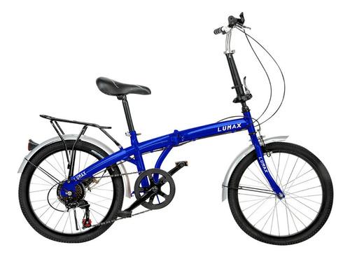 bicicleta plegable rodado 20 lumax shimano parrilla oferta
