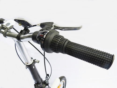 bicicleta plegable rodado 20 verado shimano parrilla adultos