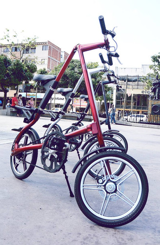 bicicleta plegable tipo strida lt