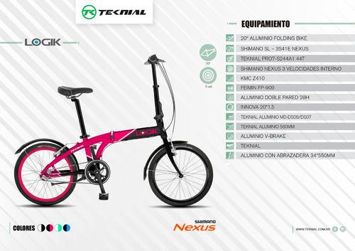 bicicleta plegables rodado