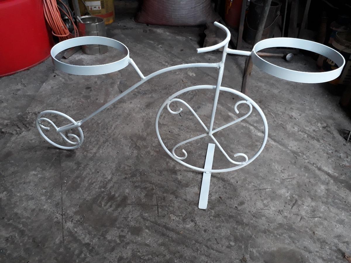 Bicicleta porta macetero de fierro forjado en mercado libre - Bicicleta macetero ...