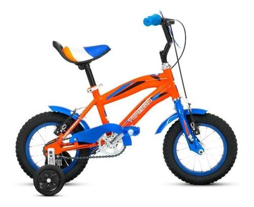 bicicleta r 12 bmx naranja azul varon top mega - ahora 12 18