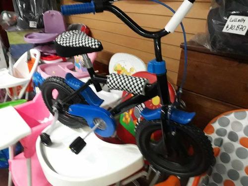 bicicleta r 12 niño niña  full  protecciones envio gratis