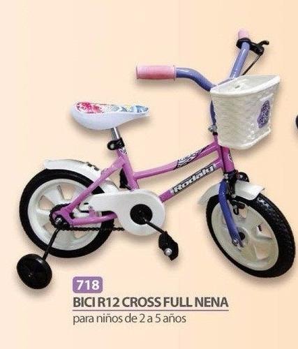 bicicleta r12 cross full c/ piñón libre  varón caseros