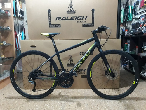 bicicleta raleigh urban 1.1 r 28- 24v acera discohidraulico
