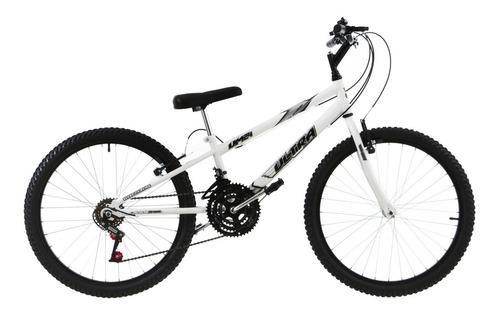 bicicleta rebaixada aro 24 18 marchas branca ultra bikes