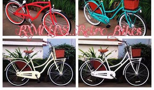 bicicleta retro-vintage dama equipada r 26 envio gratis