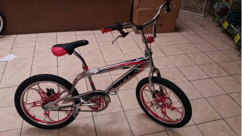 bicicleta  rín 20 modelo bmx aros de aleacion  frenos disco