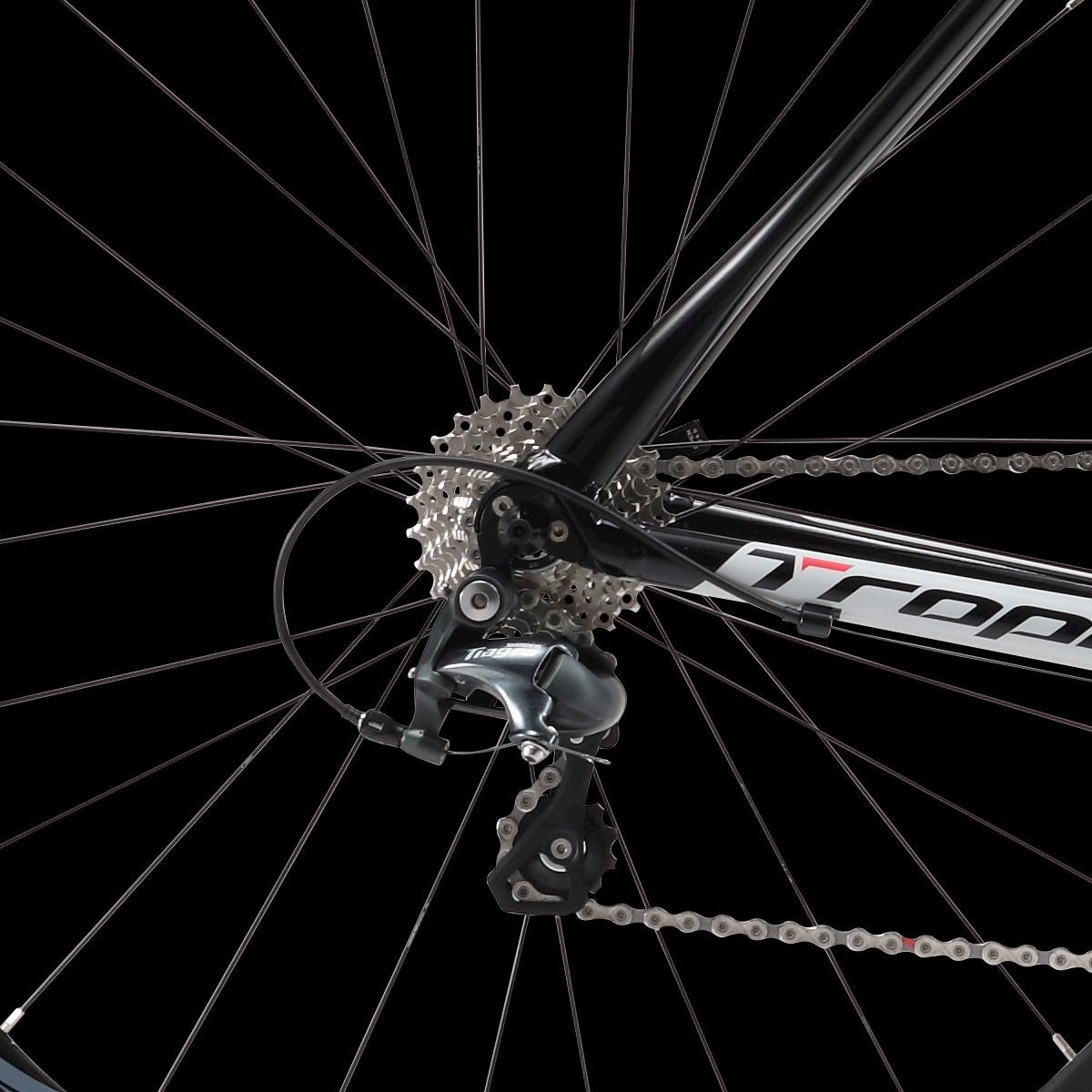 c5234dca0f Bicicleta Road Tropix Madrid Preto E Amarelo - Tam  51 - R  5.499