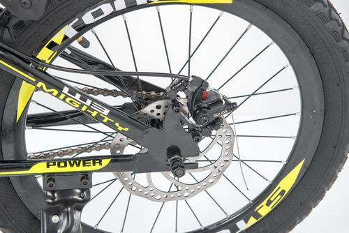 bicicleta  rod 20 c/ amortiguacion freno  disco guardabarro
