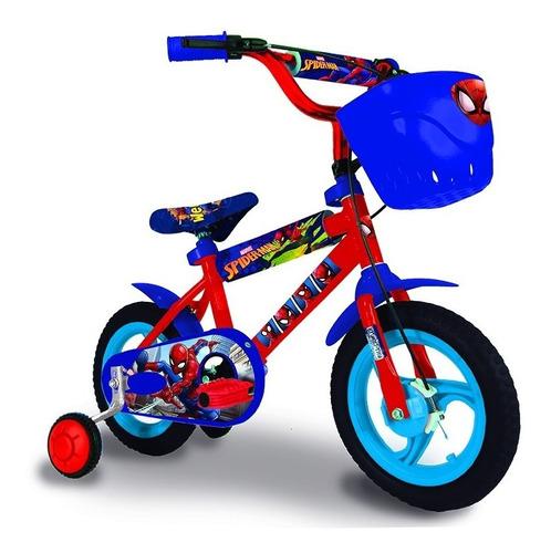 bicicleta rodado 12 spiderman niño licencia oficial