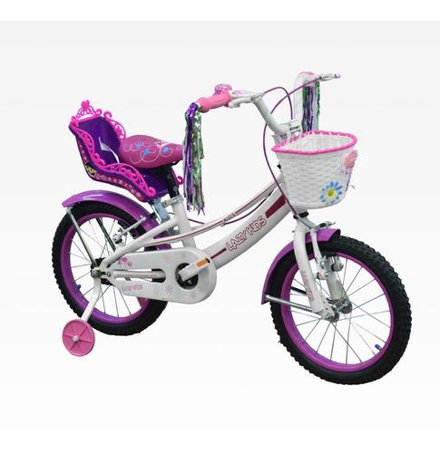 bicicleta rodado 14 aluminio lazy kids nena full equipada