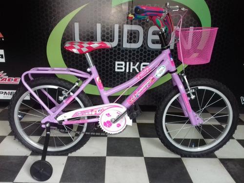 bicicleta rodado 16 nena, la mas bonita de mercado libre