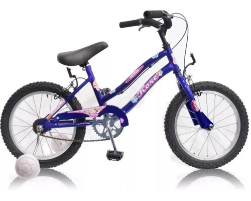bicicleta rodado 16 nena niña acero playera m1