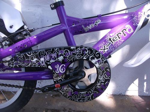 bicicleta rodado 16 x-terra niña love me // richard bikes