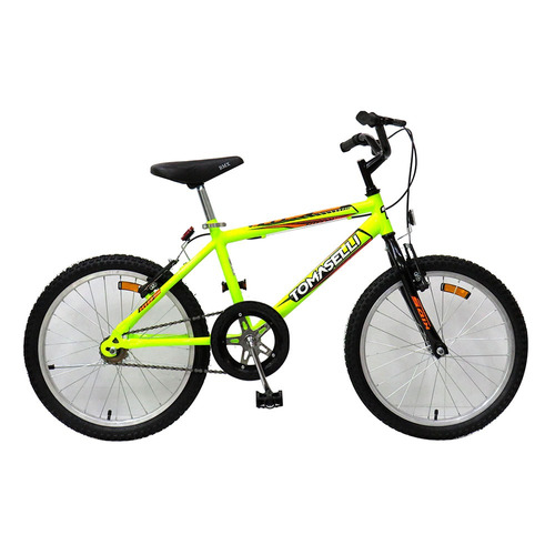 bicicleta rodado 20 tomaselli kid 20 amarillo fluo