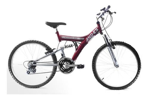 bicicleta rodado 24 mtb doble susp 18 veloc and-es