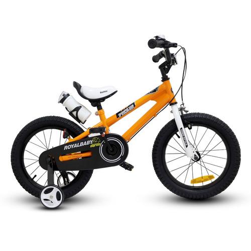 bicicleta royal baby niño aro 16 naranja