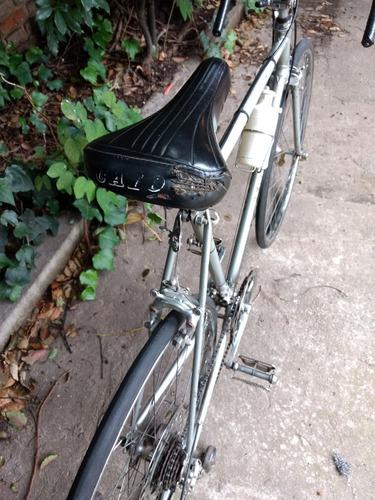 bicicleta ruta carreras caloi clasica con horquilla doblada