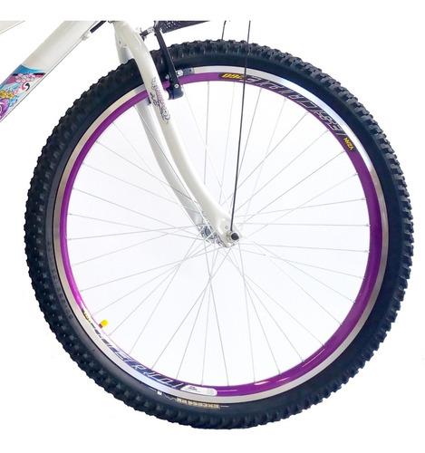 bicicleta samy feminina aro 26 18 marchas c/ aros aero