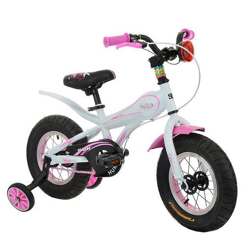 bicicleta sbk fat rodado 12 rosa blanco - racer bikes
