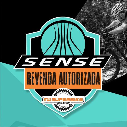 bicicleta sense one 2019 laranja aqua  brinde nf t/ l-19