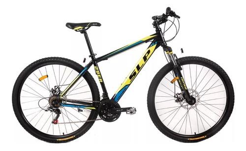bicicleta slp 10 pro r29 shimano 21v f/ disco susp + casco