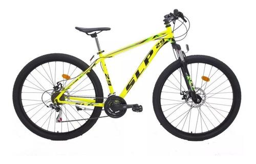 bicicleta slp 5 pro r29 shimano 21v disco susp + linga o led