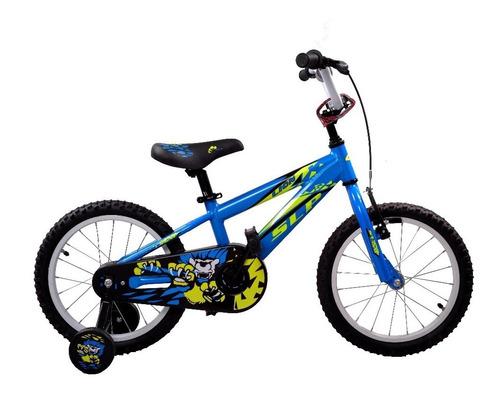 bicicleta slp lion bmx rodado 16 niño rueditas