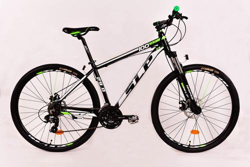 bicicleta slp mtb aluminio 100 pro 29 linga+inflador+led fas