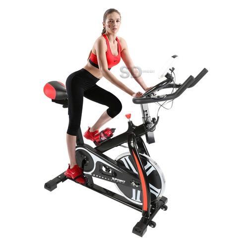 bicicleta spinning cardio consola lcd 27 kg - 8 kg disco ine