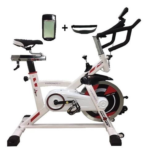 bicicleta spinning estática 18kg- khrono - banda-profit 2019
