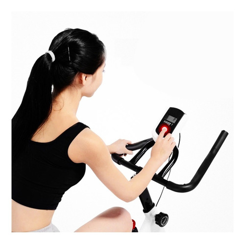 bicicleta spinning fitness color negro