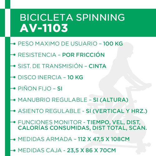 bicicleta spinning piñon fijo manubrio regulable hand pulse