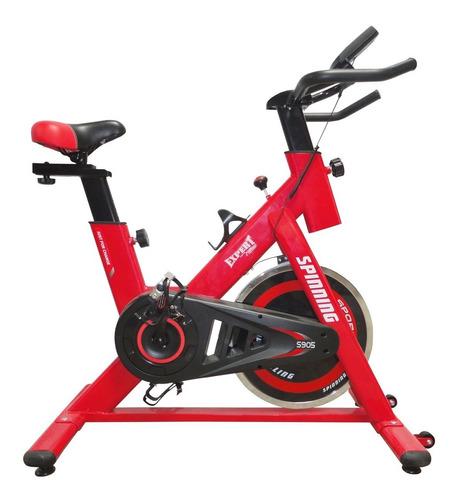 bicicleta spinning profesional regulable pulsómetro - el rey