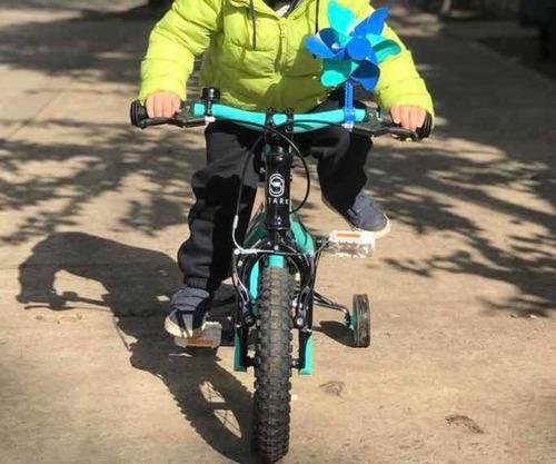 bicicleta stark rodado 12 turquesa