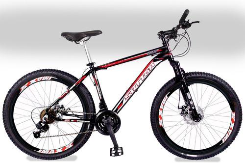 bicicleta sutton extreme aro 26 disco kit 21v shimano yamada