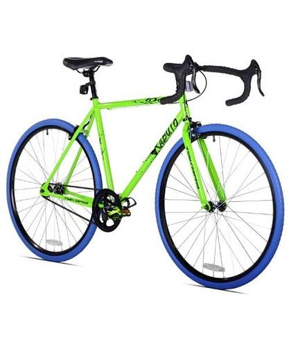 bicicleta takara renzo fixie, 57cm /grande, verde /azul