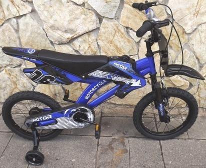 bicicleta tipo motor aro 16 azul 2019