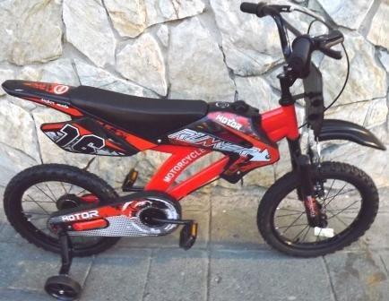 bicicleta tipo motor aro 16 naranja 2019