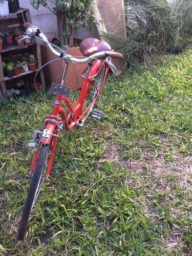 bicicleta tipo vintage mujer. rodado 26 uruguaya 2014