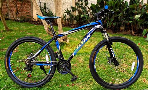 bicicleta titan aro 26 de aluminio componentes shimano 21 v