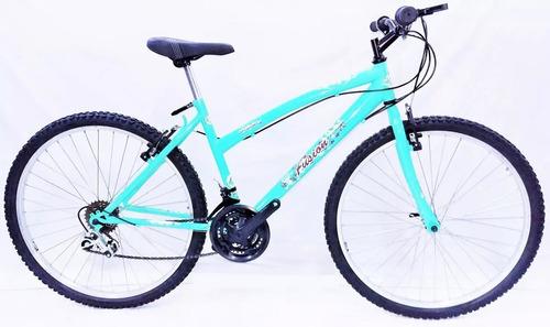 bicicleta todoterreno dama v-brake rin 26 tipo moto 18v