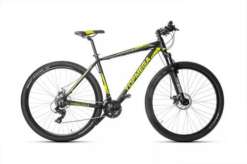 bicicleta top mega aluminio sunshine r29 + linga + casco