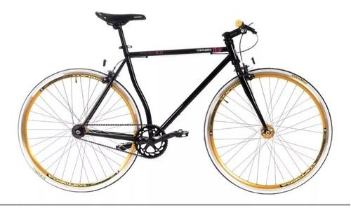 bicicleta top mega fixie como nueva + linga + asiento gel