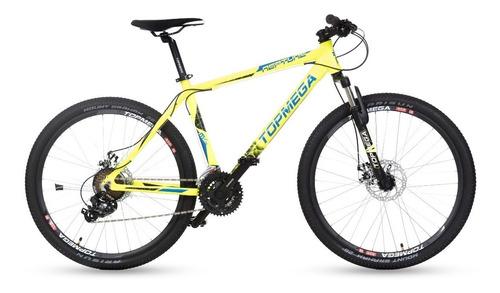 bicicleta top mega mountain neptune gris + linga + inflador