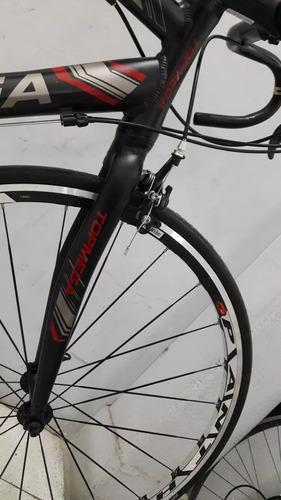 bicicleta topmega r28 carrera ruta 16v shimano + timbre ktm