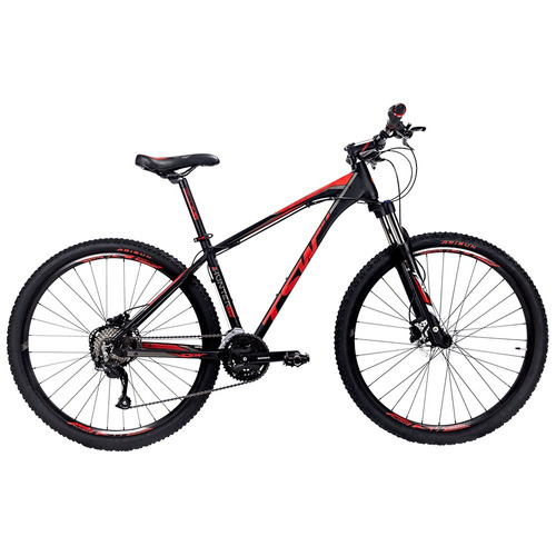 bicicleta tsw mtb hunter plus shimano altus aro 29 vermelha